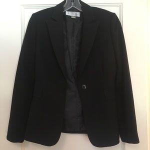 Tahari black blazer jacket size small petite 2p